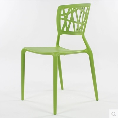 Modern Designer Dining Room Plastic Chair Without