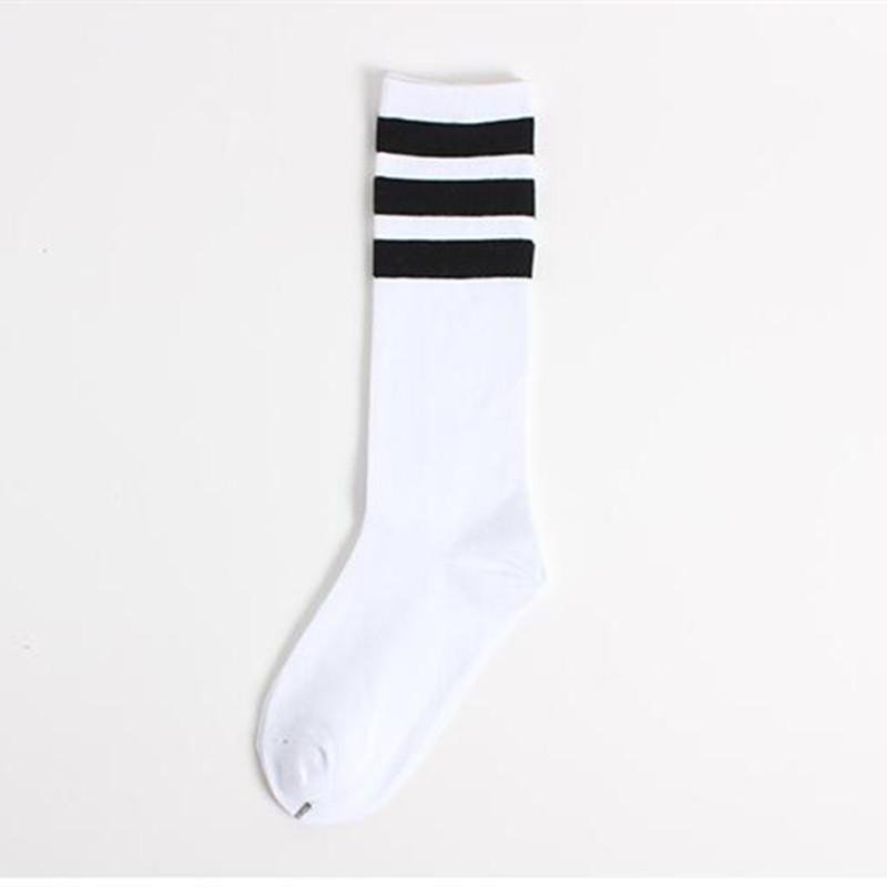 2f408861725 Classic Long Three Striped Skate Socks Retro Old School of High Quality  Cotton for Men Harajuku Style White brand black -in Men s Socks from  Underwear ...