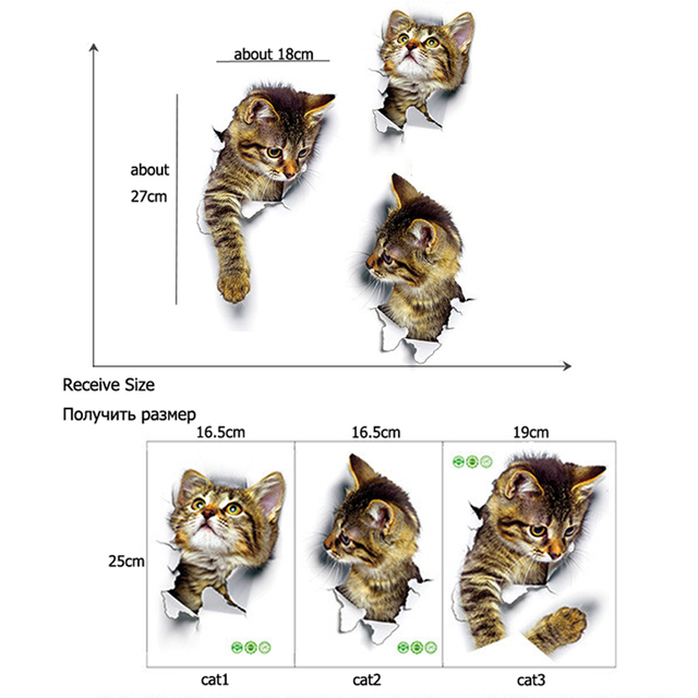 3D Cat Wall Stickers 6
