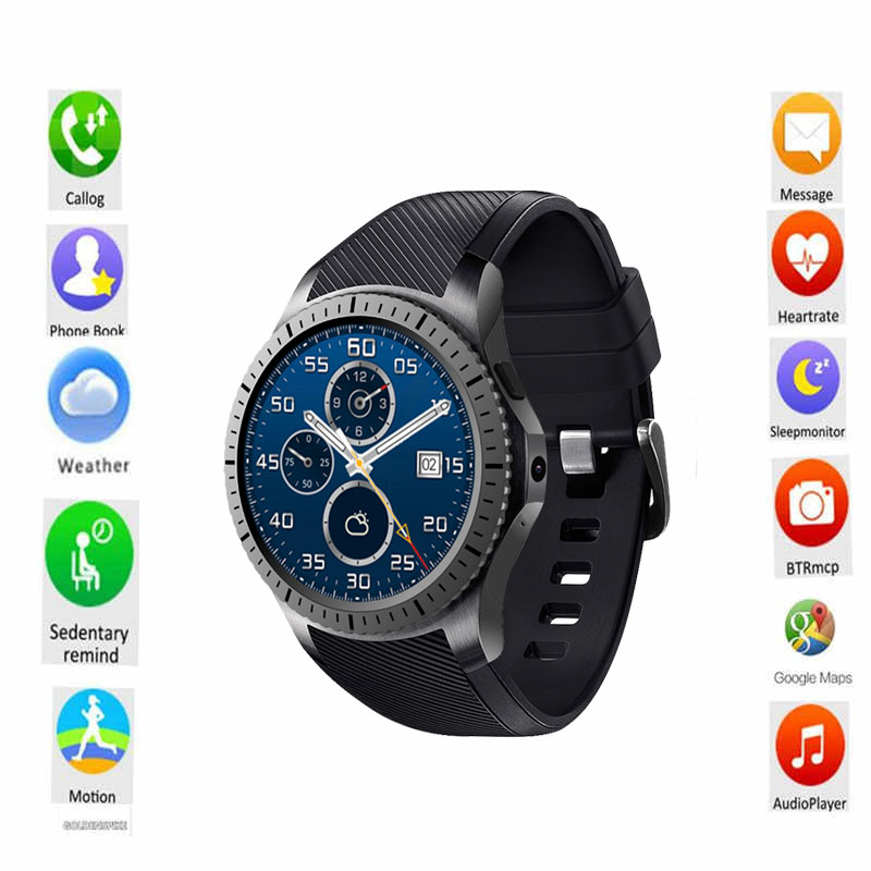 цена на New Smartwatch GW11D 3G 512M+8G MTK6580 Dual Core GPS\WIFI\BT Heart Rate Android 5.1 2.0MP for IOS&Android phone watch PK KW88
