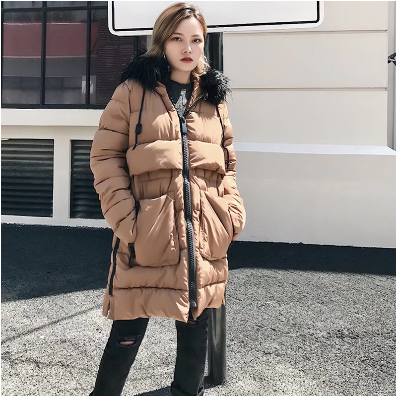 где купить NYMPH 2017 New Winter Thick Outwear Coat Women Winter Woman Parka Bio Down Thickening Big Hooded Jacket for Women High Quality по лучшей цене