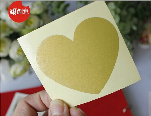 50pcs/lot  NEW Cute Heart Design Scratch Coating Sticker DIY Note Sticker Decoration Label Multifunction