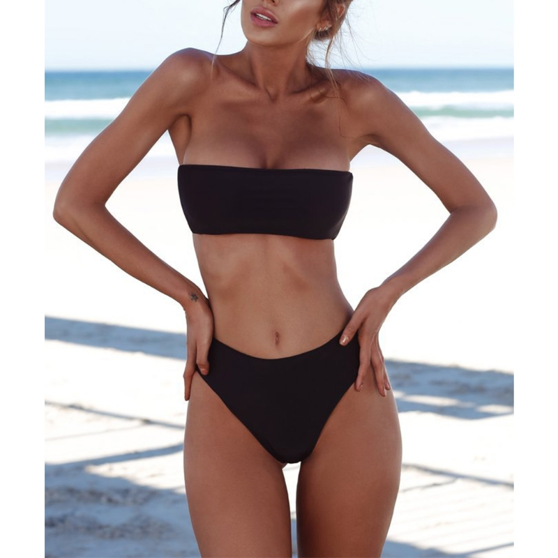 Sexy Women Bikini Set Strapless Bandeau Push-up Bra Swimsuit Swimwear Bathing  swim 1