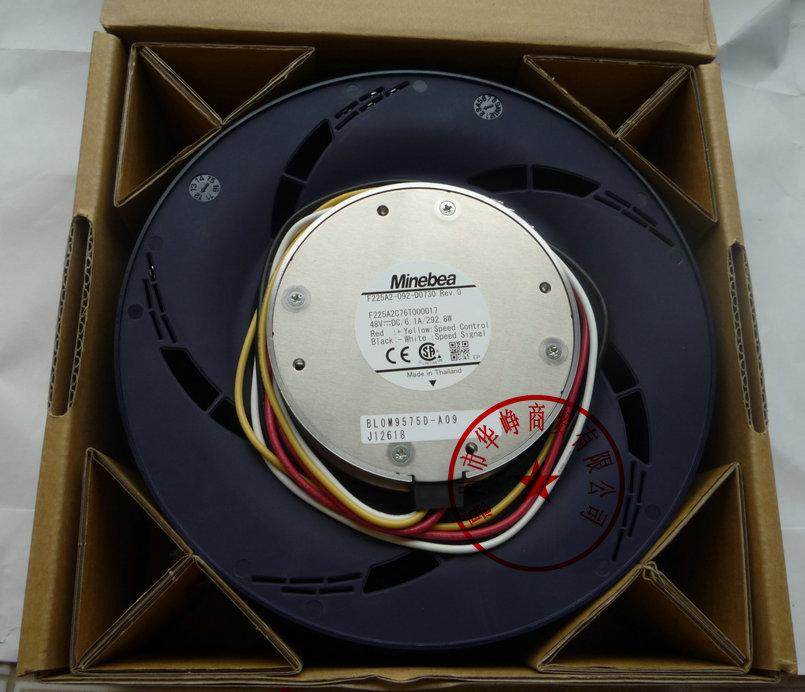 New Original NMB F225A2-092-D0730  225MM 48V 6.1A cooling fan new nmb mat minebea f225a2 092 d0730 48v 6 1a 292 8w centrifuge cooling fan