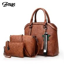 ZMQN Handbags Women Hand Bag 3 Sets 2020 Vintage Combination Crossbody Bag for Women PU Leather Handbag Lady Bolsa Feminina C653