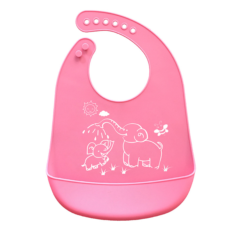 Cartoon Prints Silicone Baby Bibs Waterproof Bibs Easy Clean Adjustable Waterproof Bib Kids Clothes 2018 New Bibs & Burp Cloths