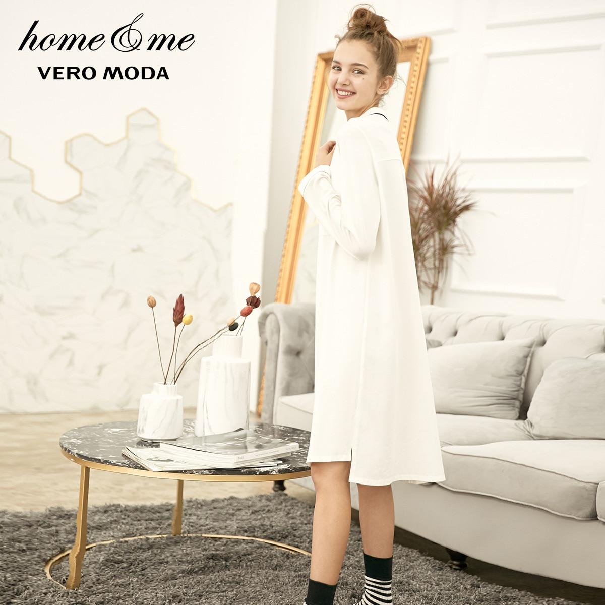 Image 4 - Vero Moda New Shirt Pure Night Dress  318361517-in Nightgowns & Sleepshirts from Underwear & Sleepwears