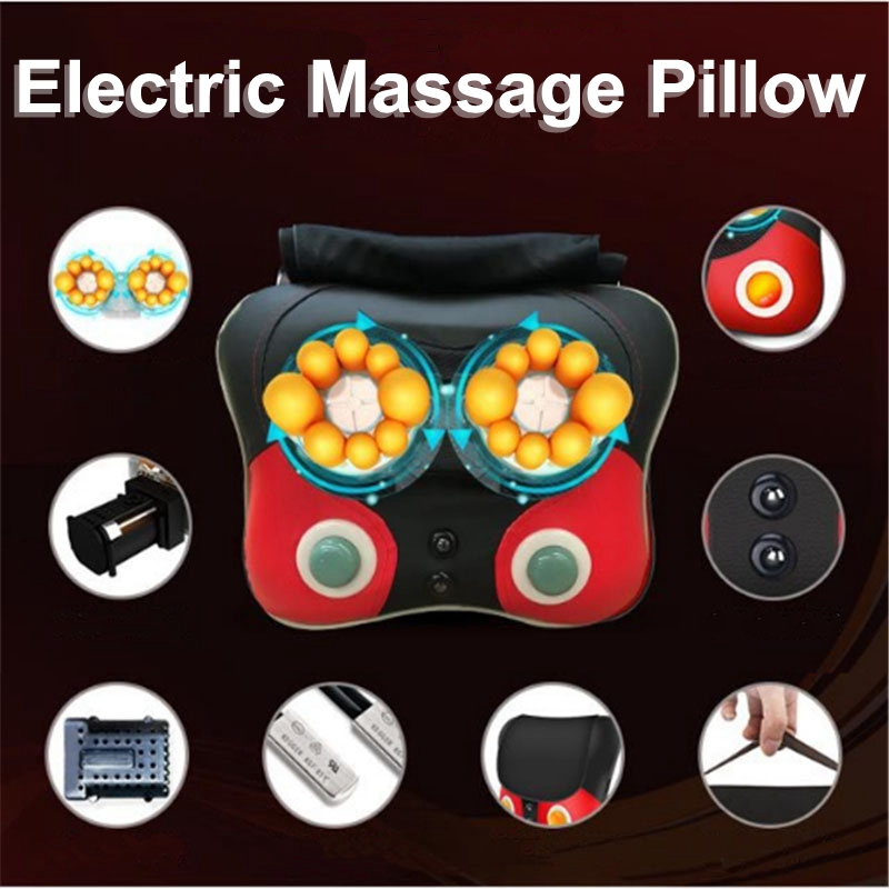 Massage pillow Neck Massage Pillow Back Body Heat Massage Apparatus Machine Relaxant Neck Relieve Pain Physiotherapy PortableMassage pillow Neck Massage Pillow Back Body Heat Massage Apparatus Machine Relaxant Neck Relieve Pain Physiotherapy Portable