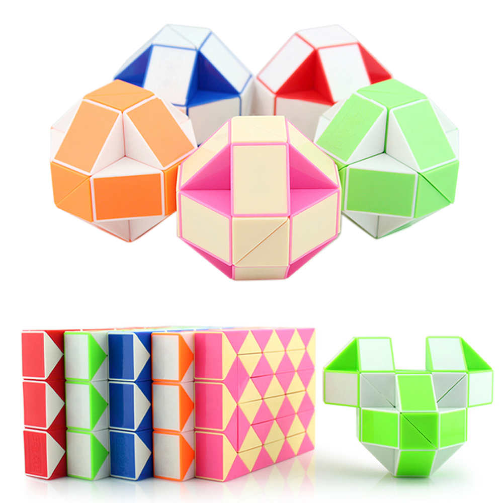 Creative Kids Toys 36 Segment Magic Snake DIY Plastic Magic Cube Puzzle Toy for Children Puzzle & Magic Cubes стоимость