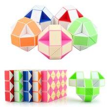 Creative Kids Toys 36 Segment Pazzle Magic Snake DIY Plastic Puzle Cube Puzzel Toy for Children Puzzle & Magic Cubes Educational