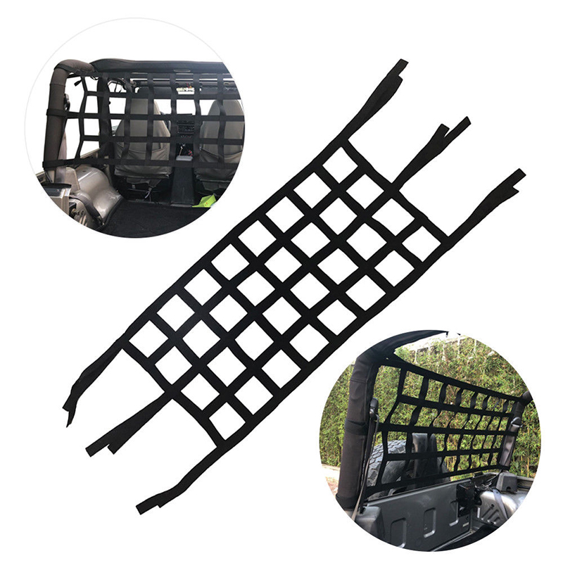 Image 3 - Car Rear Cargo Organizer Storage Elastic String Net Mesh Bag Pocket Black Trunk-in Roof Racks & Boxes from Automobiles & Motorcycles