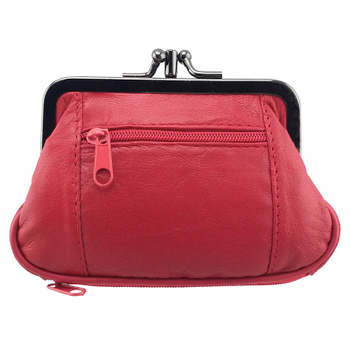 Women's Exclusive Genuine Leather Coin Purse Bags and Wallets Hot Promotions New Arrivals Women's Wallets Color: 023red