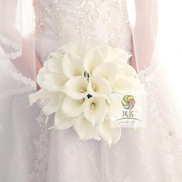 Diy Neue Stil Pu Calla Lily 30 Blumenstrauss Simulation Hand Blume