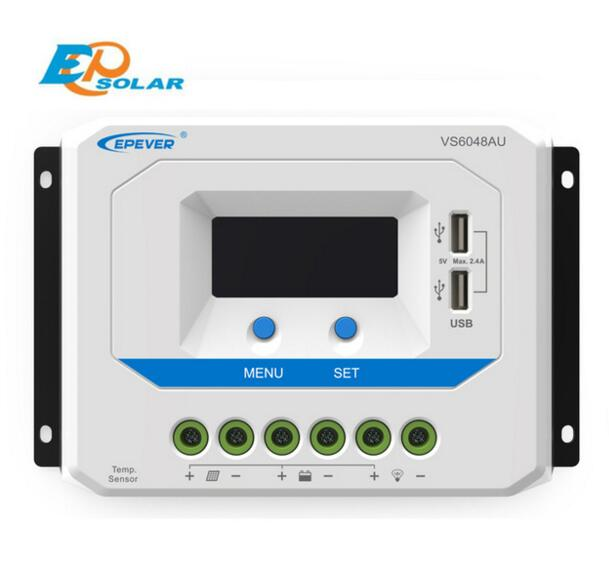 EPSOLAR VS6048AU 60A 12V 24V 36V 48V EP EPEVER New Viewstar Solar Charge controller LCD display vs6048au 48v battery charger work solar 60a controller pwm viewstar series 36v 24v auto work epever epsolar lcd display 60amps