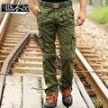 Fanchenyipin Marca Mens Calças Multi-bolso Soltas de Algodão Militar Do Exército Tático Uniforme camo Calças Cargo Pant Para Homens sem cinto