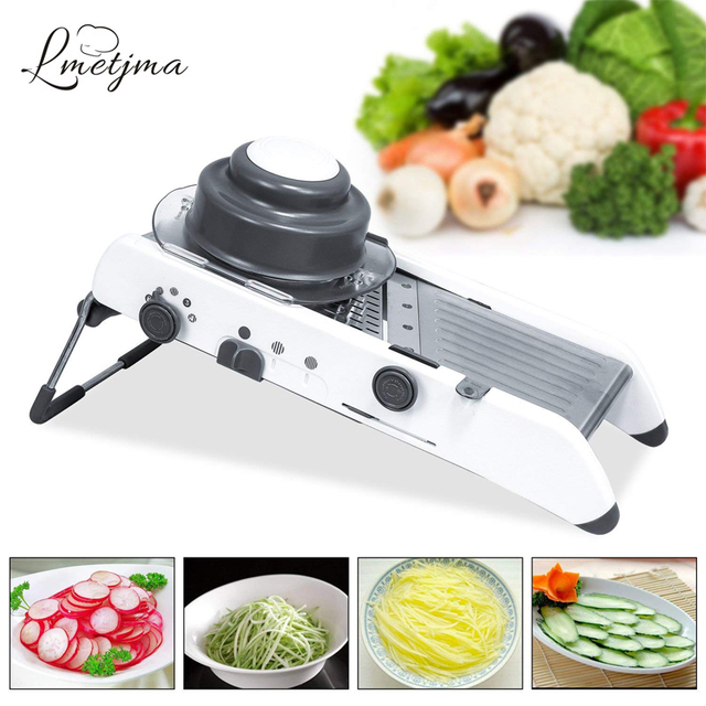 kitchen mandoline ranges us 32 45 47 off lmetjma premium slicerstainless steel adjustable vegetable slicer cutter shredder julienne chopper kc0117 in