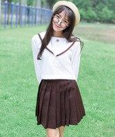 Hot Koop Klassieke Japanse Schooluniform 3 Kleur 2 Stks Sailor Past voor Sexy Meisjes Studenten Kleding
