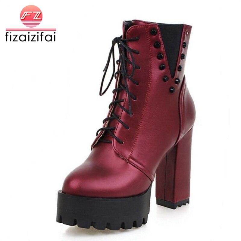 a5f72fd69 Del 43 Botas 34 Fizaizifai Los vino Tinto Ata Zapatos Señora Tamaño Para  Negro Mujeres Medias ...
