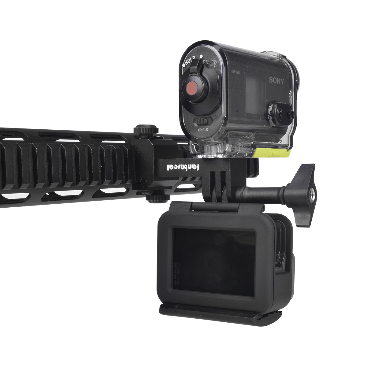 câmera arma lateral montagem para gopro hero