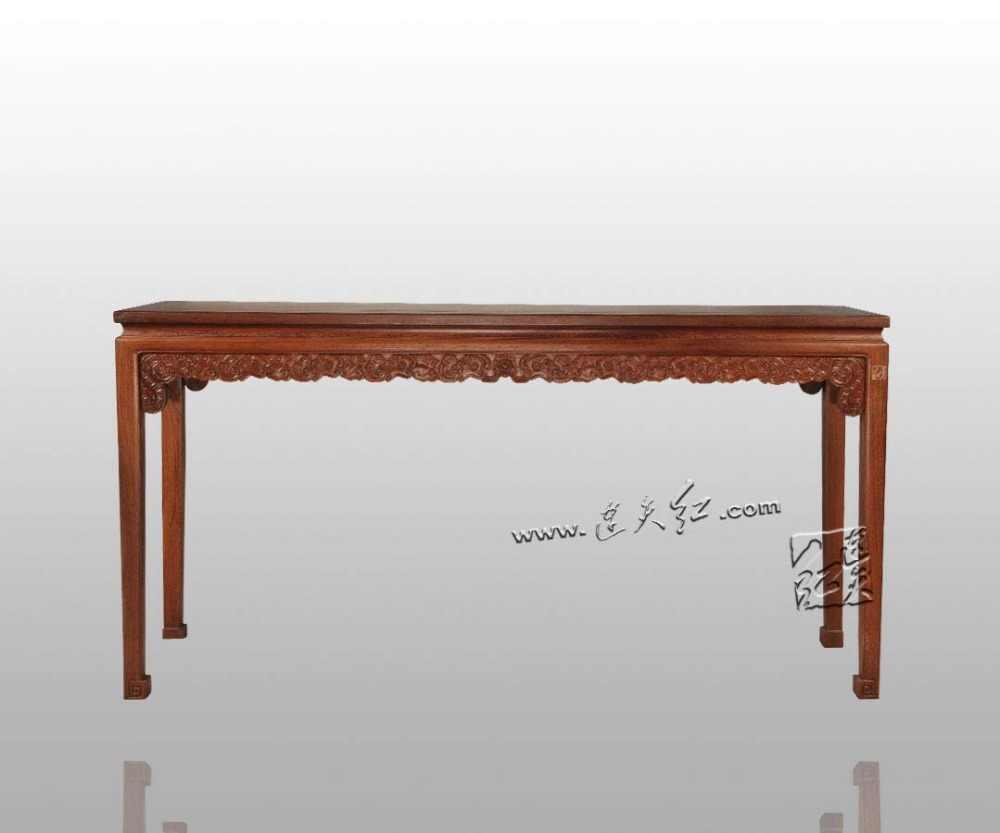 Długi stół z wzór smoka chińskie klasyczne meble malowanie biurko birma palisander wyrób rzeźbiony mała książka sprawa kryty