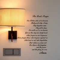 Молитвенные библейские наклейки на стену для нашего отца виниловые наклейки на стену для художественного Писания