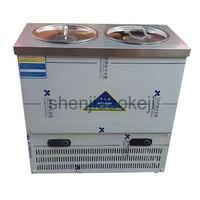 80L capacidade Comercial Dupla barril de Aço Inoxidável sopa de macarrão máquina de macarrão Coreano tipo frio frio de refrigeração da máquina|Processadores de alimentos| |  -