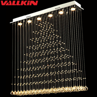 Modern LED Ceiling Crystal Chandeliers Crystal Lamp For Living Room Dining Room Rectangle Indoor Home Lamps Lighting Fixtures