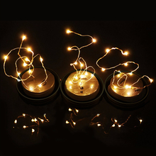цена 3X Mason Jar Lid Insert  Fairy Light for Glass Mason Jars and Garden Christmas Decor LED String Lights AAA Battery Operated D30 онлайн в 2017 году