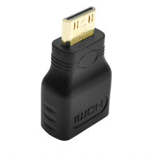Gold-Plated 1080P Mini Male HDMI To Standard HDMI Female Extension Adapter(China)