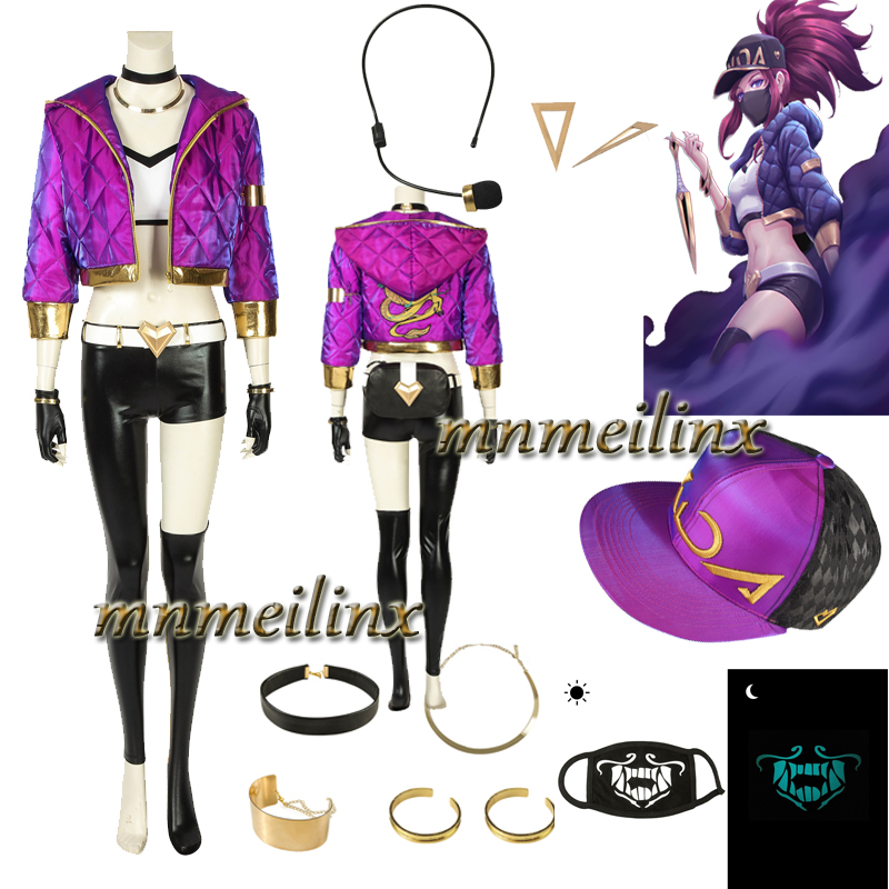 New LOL KDA Akali Cosplay shoes free shipping H.09