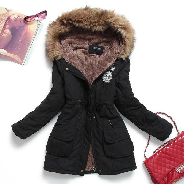 Winter Jacket Womens Outwear Thickening Female Cotton Parkas New