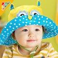 El envío libre 2015 nuevos niños de dibujos animados de primavera y verano sombreros para niños, bebé girls sombrero de sol, cubo sombrero de panamá para el cabrito