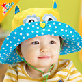 Free shipping 2015 new children's cartoon spring and summer hats for toddlers, baby girls sun hat,  bucket panama hat for kid