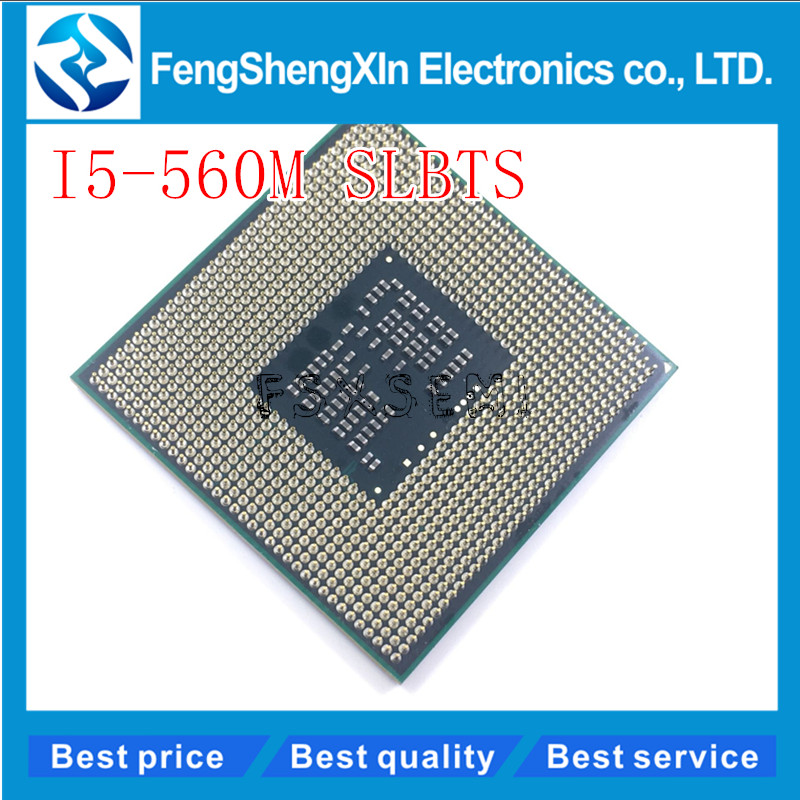 I5-560M CPU SLBTS 2.66 GHz 560 processeurs Portables Ordinateur Portable CPU PGA 988 i5 560 M