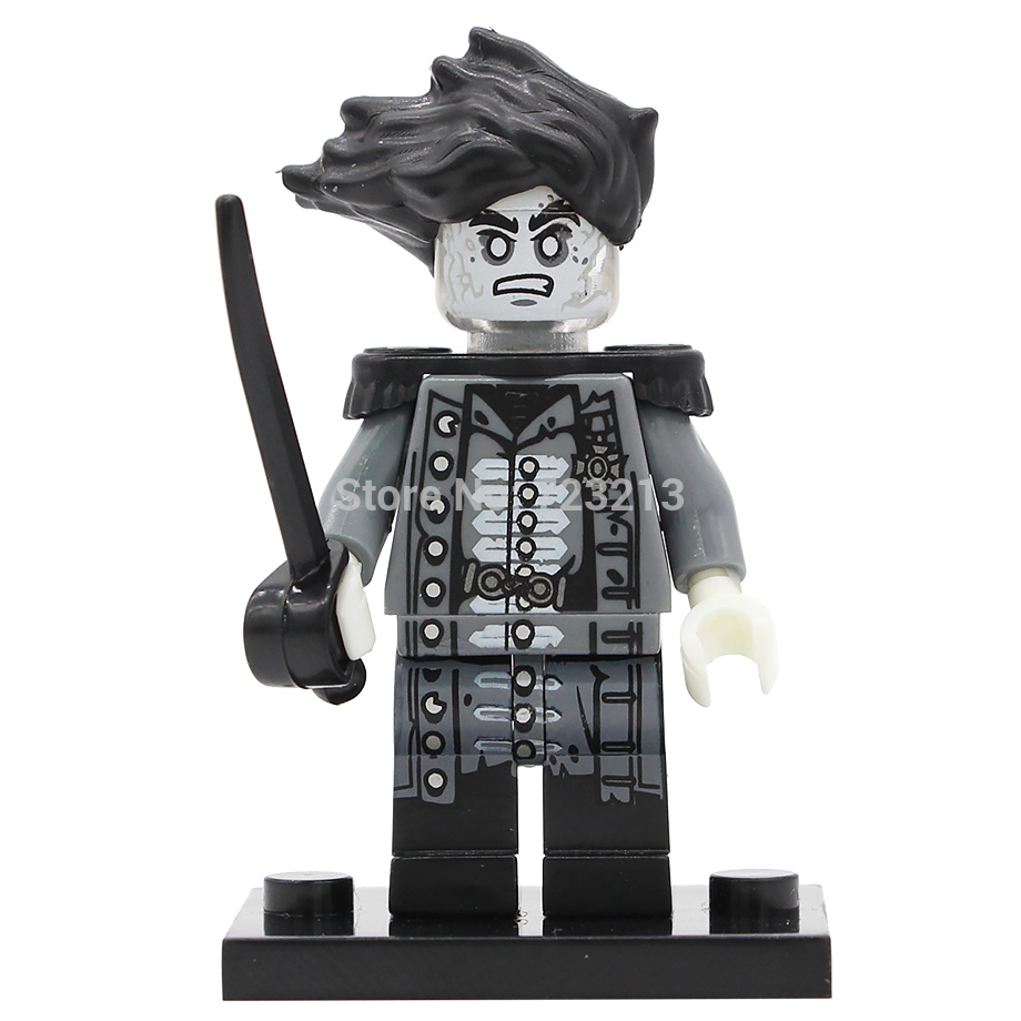Pirates of the Caribbean Figure Salazar Revenge Captain Jack Carina Smyth Henry Lesaro Building Blocks Set Bricks Toys PG8048