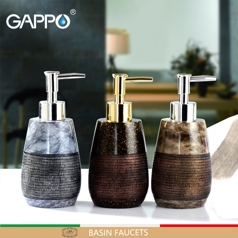 GAPPO liquid soap dispensers resin soap imported resin Bottles Bathroom decoration bath soap dispensers bottles handmade dog printed soap stamp diy footprint natural soap resin stamp acrylic crystal transparent seal for soap z0116jy