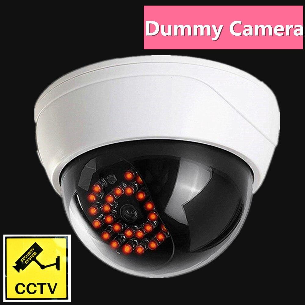 Fausse caméra factice sécurité extérieure dôme infrarouge led lumière vidéo surveillance wifi cctv simulation factice cam