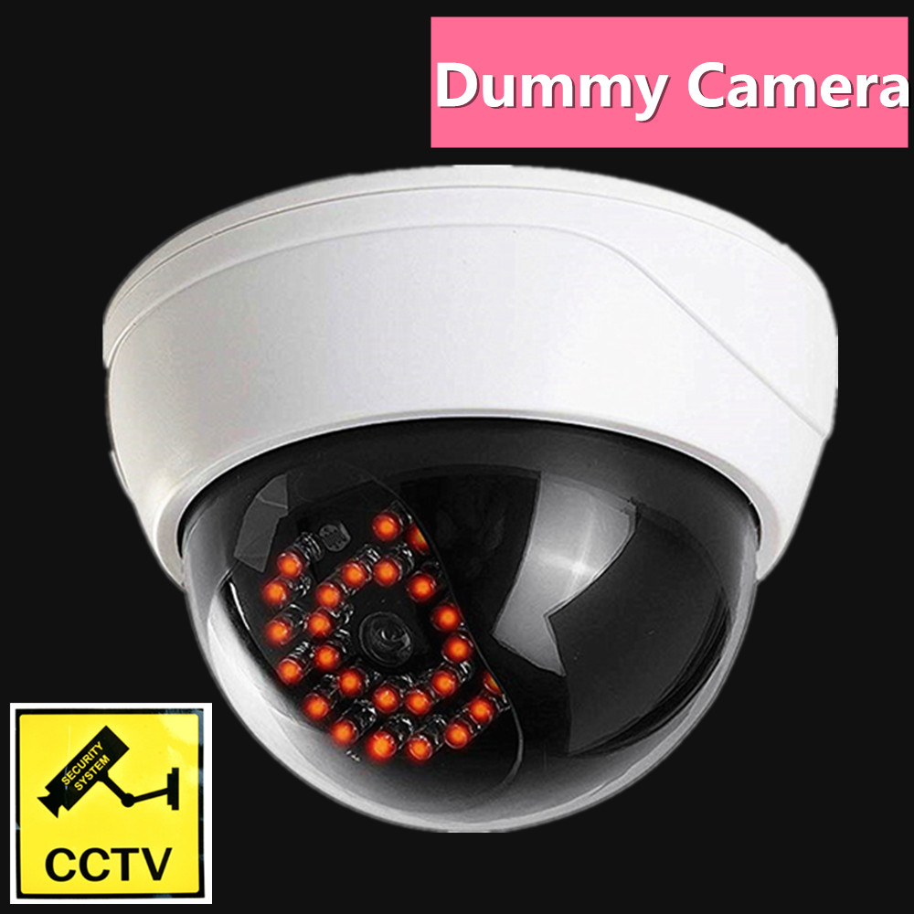 Fake Dummy Camera Security Outdoor Dome Infared Ir Leds Light Video Surveillance Wifi Cctv  Simulation Dummy Cam