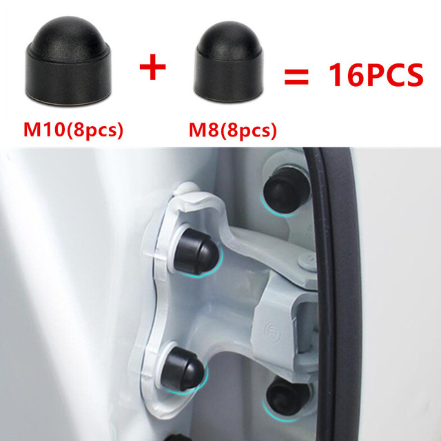 16 Uds accesorios de Interior de coche Universal de tornillo de tapa de protección para Subaru Impreza Forester Tribeca XV BRZ Clip hebilla