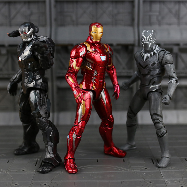 Marvel The Avengers Infinity War Figure Super Heroes Captain America Ironman Spiderman Black Panthe antman PVC Figure Toy