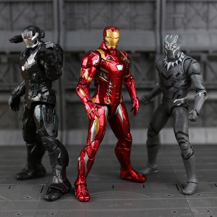 все цены на Marvel The Avengers Infinity War Figure Super Heroes Captain America Ironman Spiderman Black Panthe antman PVC Figure Toy