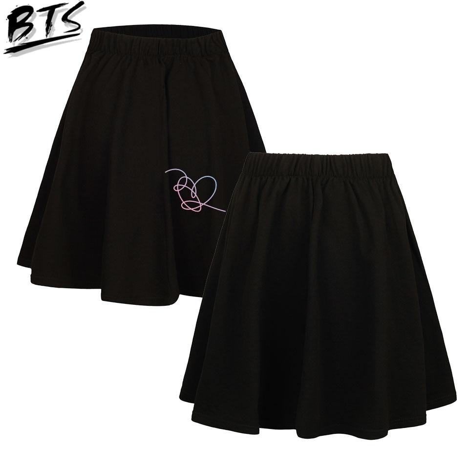 BTS Women Clohtes 2018 Ladies   Short   skirt Tops Hip Hop Album Love Yourself 'Answer' Kawaii Harajuku   Shorts   Kpop Print Plus Size