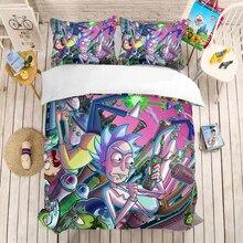 Rick and Mo 3D bedding set Duvet Covers Pillowcases comforter sets Morty bedclothes bed linen Sanchez