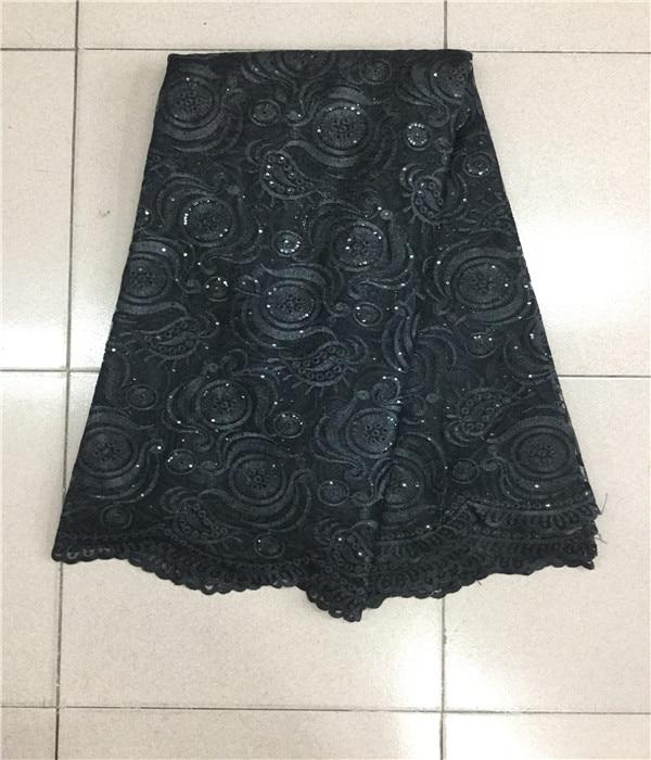 Черная Высококачественная нигерийская Свадебная африканская Сетка кружевная ткань новый гипюр шнур кружевная ткань для свадебной вечерин