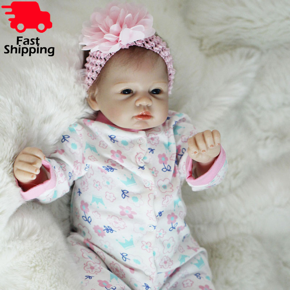 22/'/'Reborn Baby Dolls Realistic Cute Lifelike Real Doll Pink Toddler Bebe Dolls