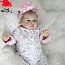 """Otarddolls Bebe Reborn Bambole 22 """"55 centimetri morbido Silicone Vinile reborn baby doll Ragazza Carina Giocattoli boneca Per I Bambini regalo di compleanno"""