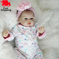 """Otarddolls bebe bonecas renascer 22 """"55cm macio vinil silicone reborn boneca do bebê bonito brinquedos da menina boneca para crianças presente de aniversário"""
