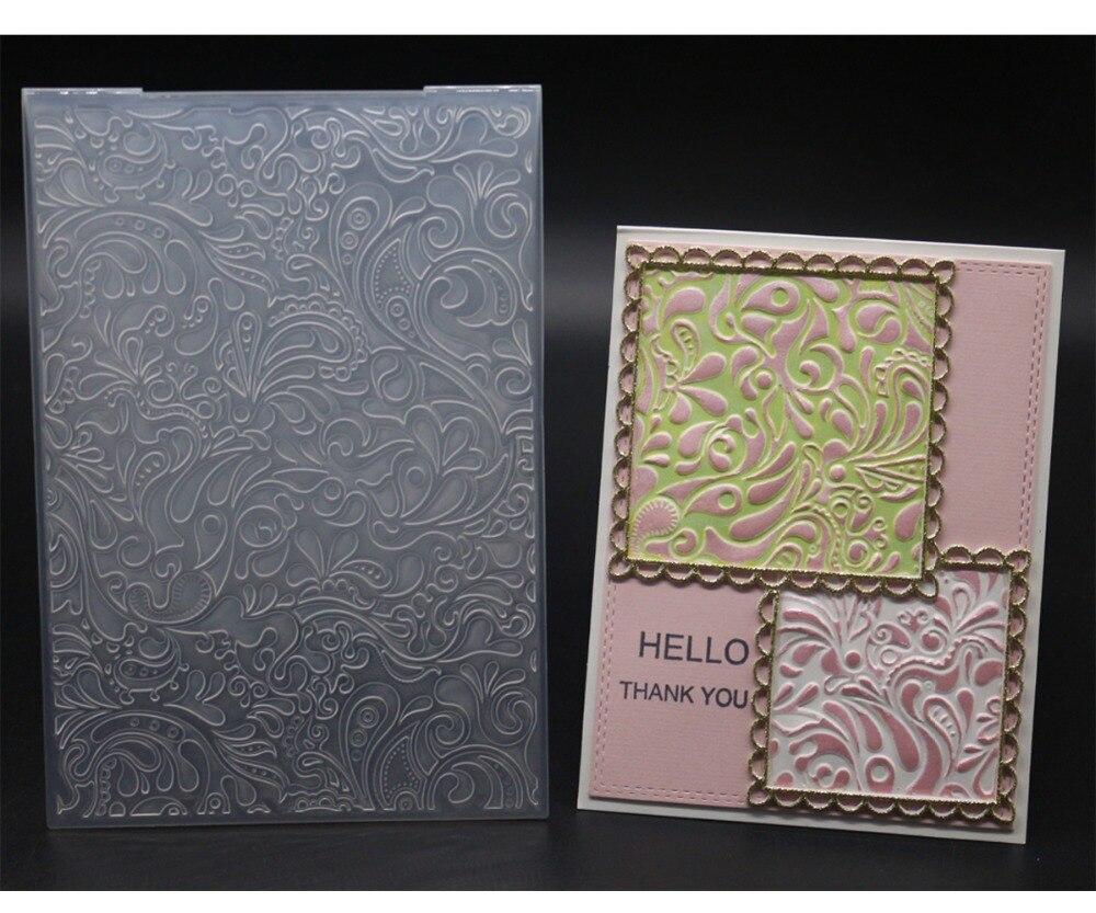 3D New Arrival Scrapbook Pattern Design DIY Paper Cutting Dies Scrapbooking Plastic Embossing Folder