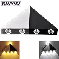 RAYWAY Novo 3 W 5 W de Alumínio Triângulo levou parede de luz de energia poupança de energia levou lâmpada de iluminação Para Casa indoor & outdoor decoração iluminação lâmpada