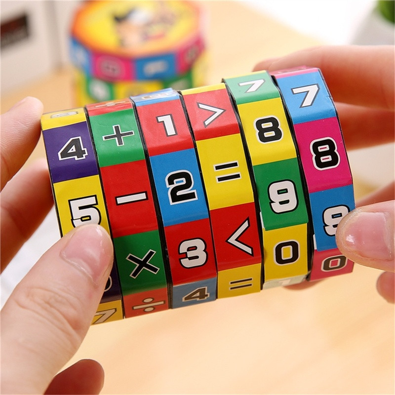 2019 New Children Kids Mathematics Numbers Magic Cube Toy Puzzle Game Gift Learning and Educational Toys Puzzle Game Gift 7.1(China)